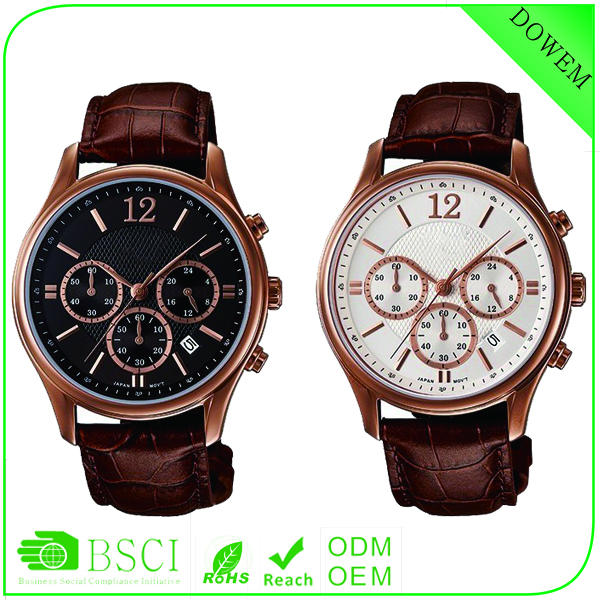 New year wholesale fashion sub-dial business style jf quartz watch