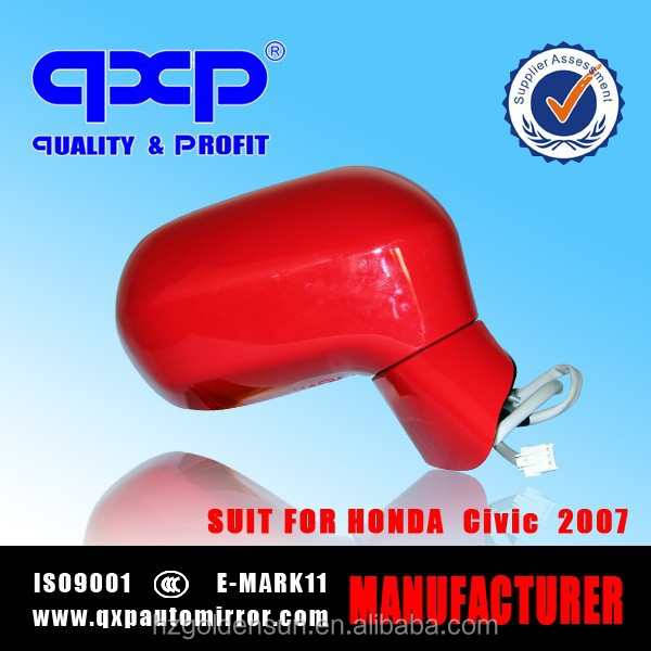 suit for honda civic side mirror 2007 color Red