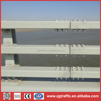 The crash barrier/guardrail on the bridge