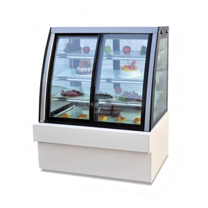 Made in China high quality open glass supermarket refrigerator showcase with CE certification