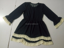 medieval Little black costume short skirt no underwear with lace fabric ruffled