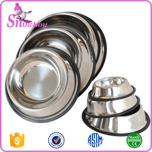 Stainless Steel No tip Non Skid Dog Puppy Cat Pet Food Water Bowl Dish