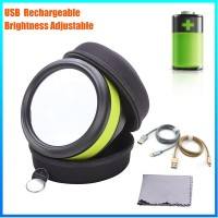 DH-86016 Hot Selling Promotion Desktop Led Reading Loupe , Selling Adjustable Lamp Loupe 90mm