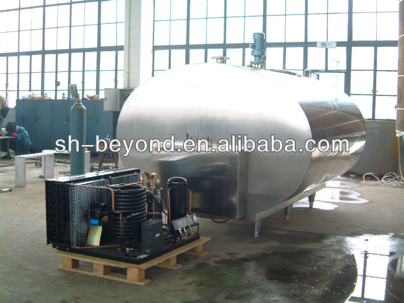 horizontal or vertical fresh milk storage tank milk chilling and cooling tank