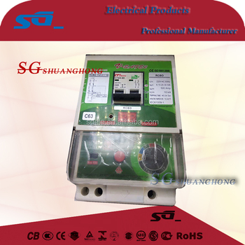 Thailand RCBO V-safe differential breaker