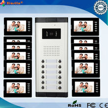 Multi Apartment building Video intercom system ( Direct button outdoor unit for 2 - 12 apartments )