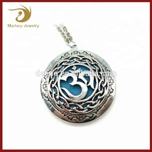 Yoga Essential Oil Aromatherapy Diffuser Necklace Pendant Simple OM Locket Designs Wholesale
