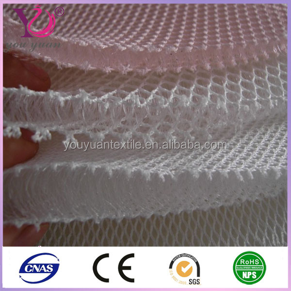 Polyester sandwich fabric 3d air mesh fabric for Mattress Furniture sport shoes chairs