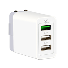 High output 3 usb adapter qc 3.0 multiport usb wall charger for iphone