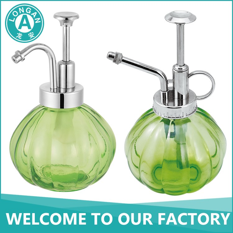 free sample factory clear stainless steel 304 ABS plastic pump 230ml soap dispenser round shape glass bottle