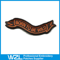 Fashion design customized fox racing embroidered patches