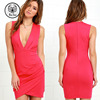 Cocktail Hour Coral Pink Wrap Dress