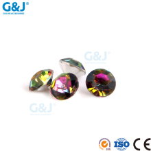 Guojie brand yiwu wholesale custom bulk strass gem hotfix cheer bow rhinestone transfer
