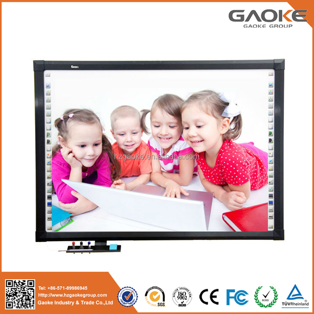 school equip high quality polished freestanding magnet interactive whiteboard digital smart board