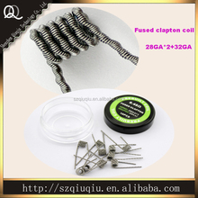 Alibaba Hot sell Fused Clapton wire coil the best 28GA 1*2 and 32GA A1 DIY fused Clapton heating coil 10pcs/case