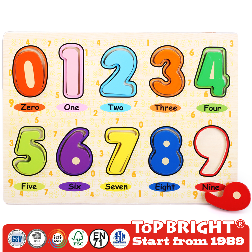 kids educational toy of wooden magnetic alphabet puzzle