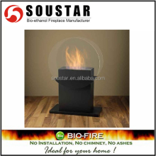 2016 indoor used hotel fire free standing ethanol/alcohol fireplace