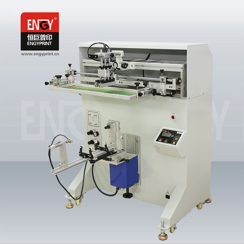 Plane and cylinder paper cup/mug/bottle silk screen printing machine/ screen printer price for sale