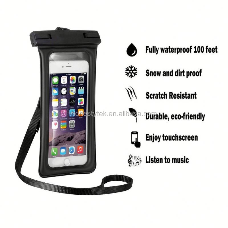 E023 black Waterproof Dry Bag Kayak Canoe Floating Fishing For Mobile Cell Phone