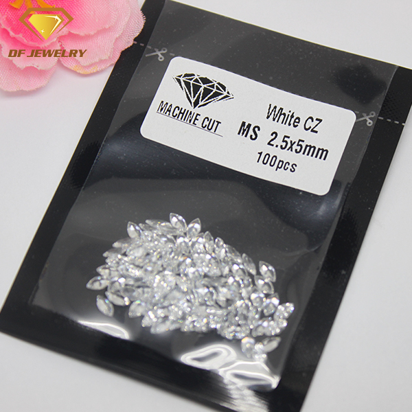 AAA Grade White CZ Gemstone Machine Cut Marquise Cubic Zirconia