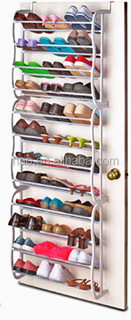 Hot sale stable and durable wrought iron shoe rack