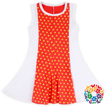 0-6 Years Old Baby Girls Dress Patchwork Pattern Cotton Dresses Hot Sale Fashion Baby Dress