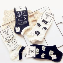Hot Sale Wholesale Compression Sock White Black Girls Women Cotton Ankle Socks