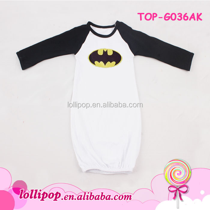 Bat man cotton gowns Baby Sleeping Sack baby night Gown with Elastic Bottom