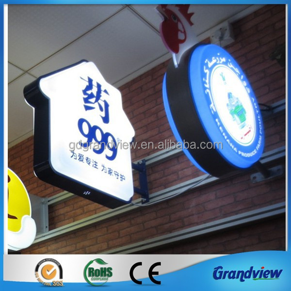 Decorative mould sucking led wall mounted neon light box sign
