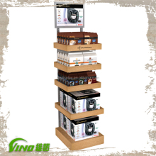 Hot Sale TASSIOM Coffee Display Merchandise Display Free Standing Shelves