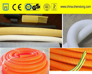plastic processing machine single wall corrugated pipe production lin