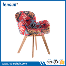 2017 New arrival beauty wood fabric cover chair for sale