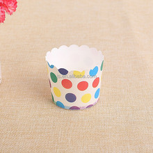 SGS certificated Baking muffin Cup for cakes Coated PET Paper Cupcake Liners