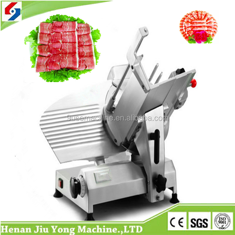 small model full automatic frozen meat slicer