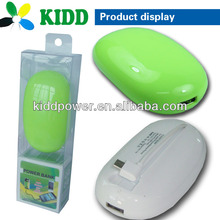 Free shipping in Shenzhen ,newly hotsale Mouse shape power banks with 1 micro usb built-in cable