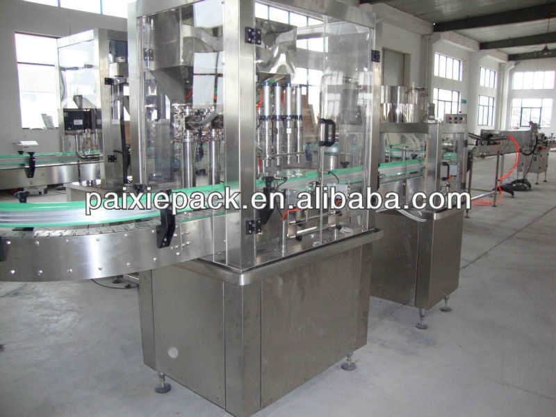 filling capping and labeling machine