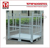 Steel storage boxes/foldable crates/wire mesh container factory (L1400*1150mm/OEM)
