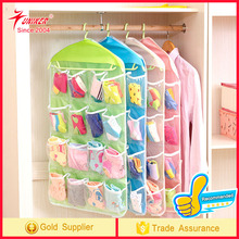 16 Pockets Socks Bra Underwear Storage Buggy Organizer ,Polyester Collection Rack Hanger