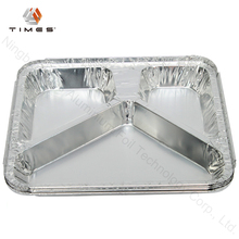 Disposable take out multi compartment food container, aluminium foil casserole