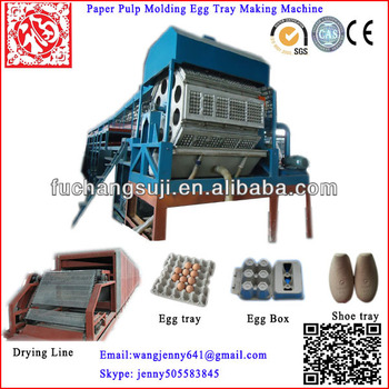 recycled paper fruit shoe egg tray making machine single multi layer drying line China