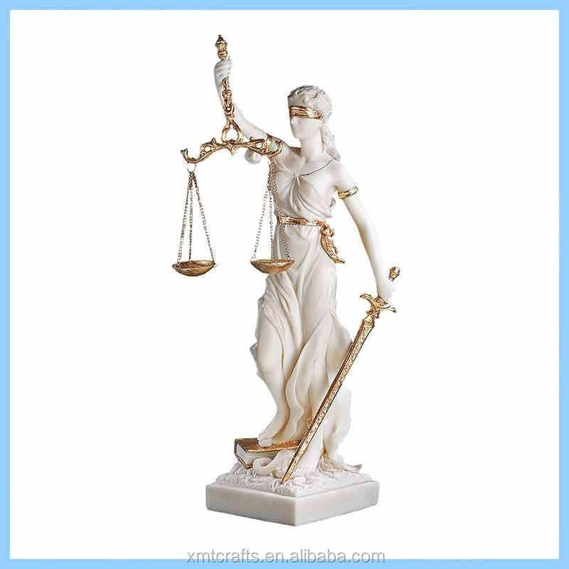 Resin Themis Blind Justice Statue for Sale, Resin Perfect Office Decor