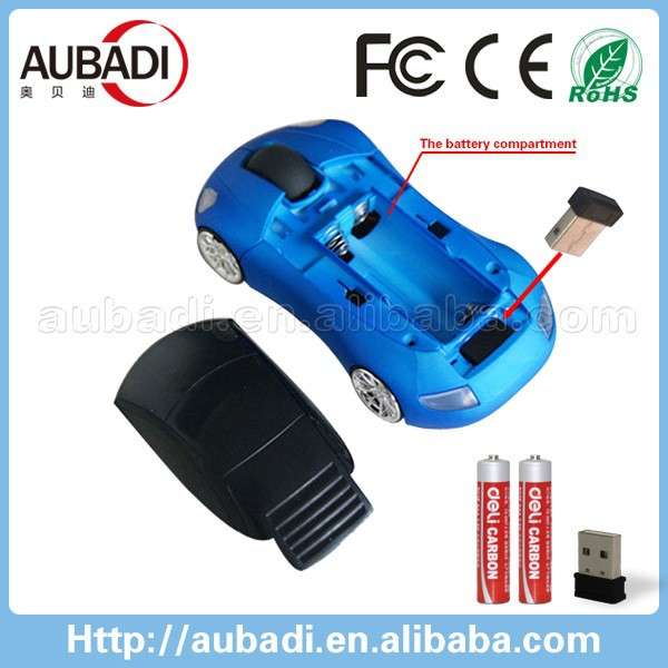 2.4G new wireless racing car mouse for favourite fans