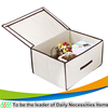 wholesale home organization folding cardboard box underwear storage box
