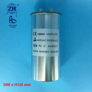 100uf capacitor of cbb65 450v round ac electric motor run