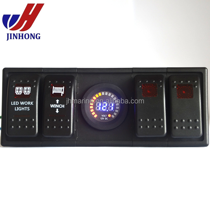 New Jeep lighting control 4 rocker switch panel for jeep wrangler