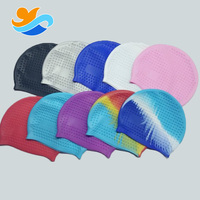 Material best nude silicone custom high stretchy Bubble soft swimming cap