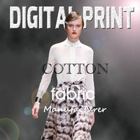 Custom design high quality digital print on textile fabric -M