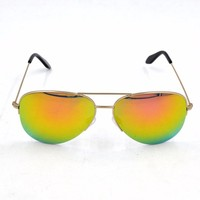 Yellow mirror lens high quality designer brands sunglasses china factory sun glasses