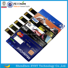 Customized Logo 1GB/2GB/4GB/8GB/46GB/32GB credit card USB flash drive