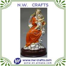 mary and baby jesus figurine resin